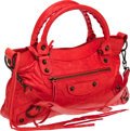 Luxury Accessories:Bags, Balenciaga Bright Red Leather Classic First Bag. ...