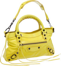 Balenciaga Bright Yellow Leather Classic First Bag