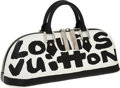 Luxury Accessories:Bags, Louis Vuitton 2001 Graffiti Collection by Stephen Sprouse Black& White Alma MM Bag. ...