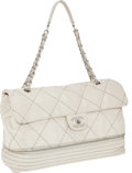 Luxury Accessories:Bags, Chanel Off-White Lambskin Leather Expandable Max Flap Bag. ...