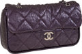 Luxury Accessories:Bags, Chanel Dark Purple Jumbo Single Flap Bag with Classic Chain Strap....