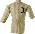 Baseball Collectibles:Uniforms, 1914 Jack Barry Game Worn Jersey. We could say that this lot willanswer a dream for one serious uniform collector, but tha...