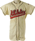 Baseball Collectibles:Uniforms, 1960 Hank Bauer Game Worn Jersey. An American League force to bereckoned with in the late 1920's and early 1930's, the Ath...