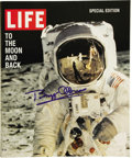 "Autographs:Celebrities, Buzz Aldrin Signed Life Magazine, 100 pages, 9"" x 10.75"". The 1998reprinting of Life's 1969 special report on the Apoll...(Total: 1 Item)"