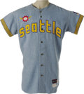 Baseball Collectibles:Uniforms, 1969 Seattle Pilots Game Worn Jersey. While the Seattle Mariners have since come to thrive in the Pacific Northwest, it see...