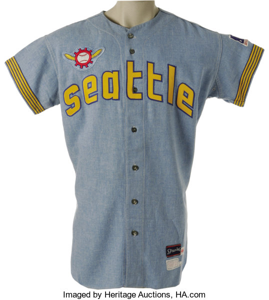 1969 seattle pilots game worn jersey while the seattle lot 19914
