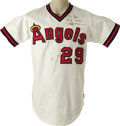 Baseball Collectibles:Uniforms, 1980 Rod Carew Game Worn Jersey. A fourteenth All-Star season for this Hall of Famer and 3,000 Hit Club member. Home whi...