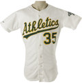 Baseball Collectibles:Uniforms, 1990 Bob Welch Cy Young Season Game Worn Jersey. Home white gamerdates to the greatest season in this star right-hander's ...