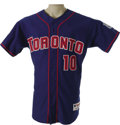 Baseball Collectibles:Uniforms, 2001 Vernon Wells Game Worn Jersey. Today considered to be among the finest centerfielders in Major League Baseball, Wells ...