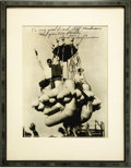 """Transportation:Aviation, Balloonist Ward T. Van Orman Inscribed Photograph, 7"""" x 9.25"""" framed to an overall 10.5"""" x 13.5"""". Glossy, undated publicity ... (Total: 1 Item)"""