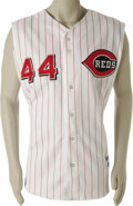 Baseball Collectibles:Uniforms, 2003 Adam Dunn Game Worn Jersey. The hulking Cincinnati Reds slugger passed up the chance at a professional football career...