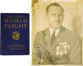 """Autographs:Military Figures, Autographed 1924 World Flight Memorabilia, two items as follows: Signed Photograph, 11"""" x 14"""", inscribed, """"To Cliff Hender... (Total: 2 Item)"""