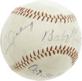 Autographs:Baseballs, 1928 Babe Ruth & Lou Gehrig Signed Baseball. Just three weeksafter completing a four-game World Series sweep of the St. Lo...