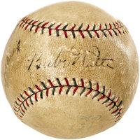 Late 1920's Babe Ruth & Lou Gehrig Signed Baseball. This dynamic duo's appearance on an OAL ball from the presidency...