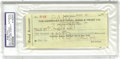 Autographs:Checks, 1930 Babe Ruth Signed New York Yankees Check. We all know the famous line from the Babe, who responded to a reporter's comm...
