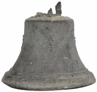 A Mexican Bronze Mission Bell Unknown Maker, Mexico Nineteenth century Cast Bronze Unmarked 16.5