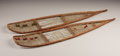American Indian Art, A PAIR OF CREE MODEL WOOD AND HIDE SNOW SHOES. c. 1900. ... (Total:2 Items)