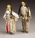 American Indian Art, A PAIR OF SIOUX BEADED HIDE DOLLS. c. 1950... (Total: 2 Items)