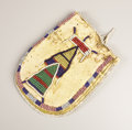 American Indian Art:Beadwork, TWO CROW BEADED HIDE POUCHES. c. 1890. ... (Total: 2 Items)