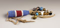 American Indian Art:Beadwork, A CROW BEADED HIDE AMULET. . c. 1880. ...
