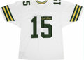 Football Collectibles:Others, Bart Star Signed Jersey. Green Bay Packer Hall of Fame signal caller Bart Starr offers a dazzling exemplar of his signature...