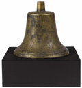 Bronze:American, An American Bronze Train Bell. Unknown Maker, USA. Nineteenth century. Cast Bronze. Unmarked . 12.5 inches high x 13 inche... (Total: 4 Items)