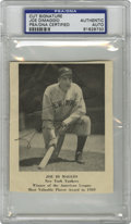 Autographs:Letters, Joe DiMaggio Cut Signature PSA Authentic. Elegant signature from Joe D applied on a clipping from a vintage periodical....