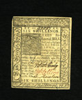 Colonial Notes:Delaware, Delaware January 1, 1776 6s Very Choice New. Many wouldunhesitatingly claim that this note is a gem with its robust printq...