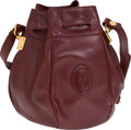 Luxury Accessories:Bags, Cartier Burgundy Drawstring Bag. ...