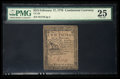 Colonial Notes:Continental Congress Issues, Continental Currency February 17, 1776 $2/3 PMG Very Fine 25.. ...