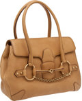 Luxury Accessories:Bags, Gucci Natural Leather Classic Horsebit Bowling Bag with LambskinLeather Interior. ...