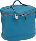 Luxury Accessories:Accessories, Hermes Blue Jean Clemence Leather Beauty Case with Palladium Hardware. ...