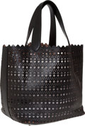 Luxury Accessories:Bags, Alaia Signature Black Laser Cut Eyelet Tote. ...