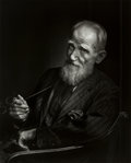 Photographs:20th Century, YOUSUF KARSH (Canadian, 1908-2002). George Bernhard Shaw,1943. Gelatin silver, printed later. 19-3/4 x 15-7/8 inches (5...
