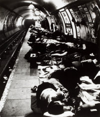 BILL BRANDT (British, 1904-1983) People Sheltering in the Tube, Elephant and Castle Underground Station, London
