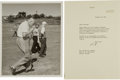 Golf Collectibles:Autographs, 1962 President Dwight D. Eisenhower Signed Letter....