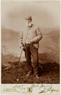 Golf Collectibles:Autographs, 1901 Old Tom Morris Signed Cabinet Photograph, PSA/DNA NM-MT 8....