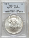 1995-W $1 Special Olympics Silver Dollar MS65 PCGS. PCGS Population (1/995). NGC Census: (0/811). Numismedia Wsl. Price...