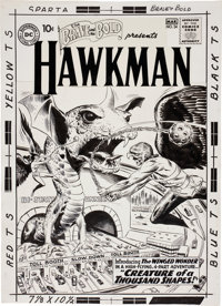 Joe Kubert The Brave and the Bold #34 The Landmark First Silver Age Hawkman Cover Original Art (DC, 19