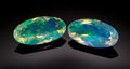 Gems:Faceted, FINE GEMSTONES: MATCHED PAIR CRYSTAL OPAL - 4.81 CT. . ...