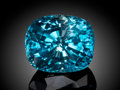 Gems:Faceted, FINE GEMSTONE: BLUE ZIRCON - 40.46 CT.. ...