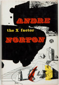 Books:Science Fiction & Fantasy, [Jerry Weist]. Andre Norton. The X Factor. New York: Harcourt, Brace & World, [1965]. First edition, first printing....
