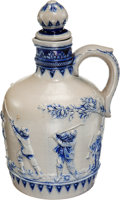 Golf Collectibles:Miscellaneous, Early 1900's German Golf Handled Stoneware Jug....