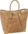 Luxury Accessories:Bags, Nancy Gonzalez Large Cork & Metallic Gold Crocodile Tote . ...