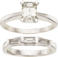 Estate Jewelry:Rings, Diamond, Platinum Ring Set. ...