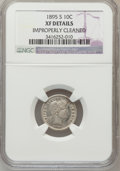 Barber Dimes: , 1895-S 10C -- Improperly Cleaned -- NGC Details. XF. NGC Census:(0/142). PCGS Population (11/125). Mintage: 1,120,000. Num...