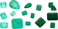 Estate Jewelry:Unmounted Gemstones, Unmounted Emerald Lot. ...