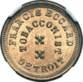 Civil War Merchants, 1864 Francis Eccard, Detroit, MI, F-225Y-6d, R.10, MS65 NGC. ...