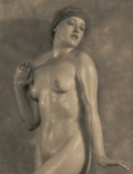 Photographs, NICKOLAS MURAY (American, 1892-1965). Untitled (Nude), 1925. Vintage gelatin silver. 9-3/8 x 7-3/4 inches (23.8 x 19.7 c...