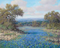 Paintings, ROBERT HARRISON (American, 20th Century). A Field of Bluebonnets, 2012. Oil on canvas. 24 x 30 inches (61.0 x 76.2 cm). ...